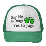 Say No To Drugs Green Beer Hat
