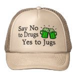 Say No To Drugs Green Beer Hats