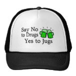 Say No To Drugs Green Beer Mesh Hat