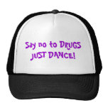 Say no to DRUGS JUST DANCE! Mesh Hats