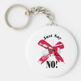 Say No to Drugs Keychain