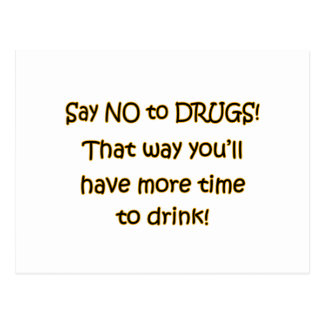 Say NO to DRUGS Postcard