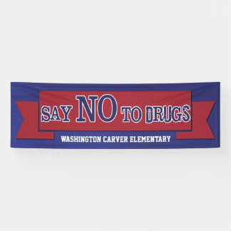 Say No To Drugs Red Ribbon Week Banner