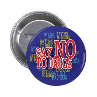 Say No To Drugs Red Ribbon Week Button