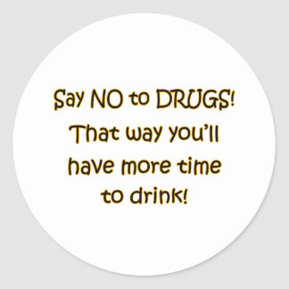 Say NO to DRUGS Round Stickers