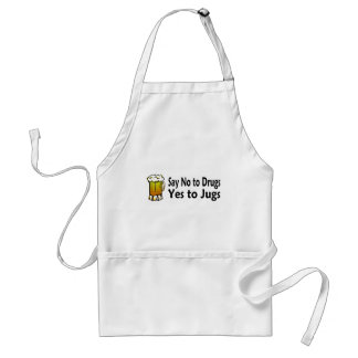 Say No To Drugs Yes To Jugs Adult Apron