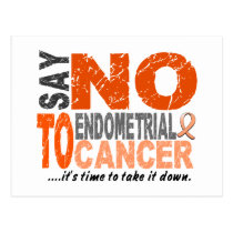 Say NO To Endometrial Cancer 1 Postcard