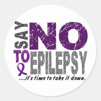 Say NO To Epilepsy 1 Classic Round Sticker