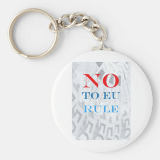 Say No to EU Rule Basic Round Button Keychain
