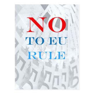 Say No to EU Rule Postcard