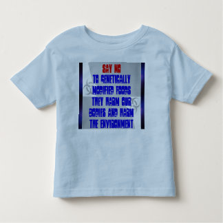 say no to GMF toddler shirt