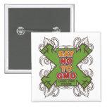 Say No to GMO 2 Inch Square Button