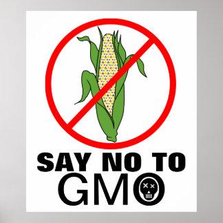 Say No To GMO Corn Cob Poster