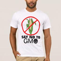 Say No To GMO Death Skull Corn Cob T-Shirt