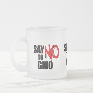 Say NO to GMO Frosted Glass Coffee Mug