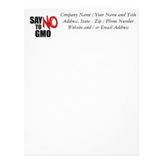 Say NO to GMO Letterhead