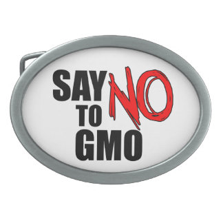 Say NO to GMO Oval Belt Buckle