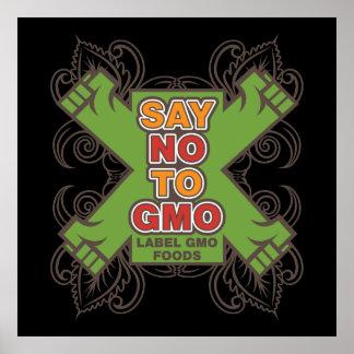 Say No to GMO Poster