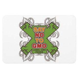Say No to GMO Rectangular Photo Magnet