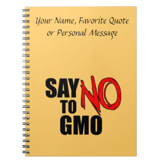 Say NO to GMO Spiral Notebook