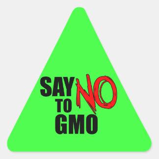 Say NO to GMO Triangle Sticker