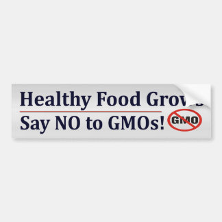 Say NO To GMO's Bumper Stickers