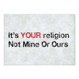 Say No To God Cults 5x7 Paper Invitation Card