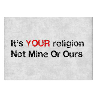 Say No To God Cults Large Business Cards (Pack Of 100)