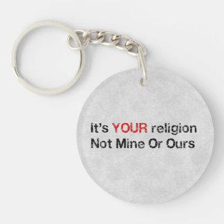Say No To God Cults Single-Sided Round Acrylic Keychain