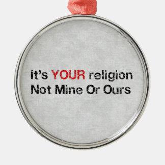 Say No To God Cults Metal Ornament