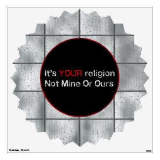 Say No To God Cults Wall Decal