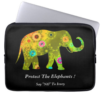 "Say ""NO"" To Ivory Laptop Computer Sleeve"