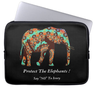 "Say ""NO"" To Ivory Laptop Sleeve"