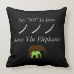 """Say """"no"""" to ivory throw pillow"""