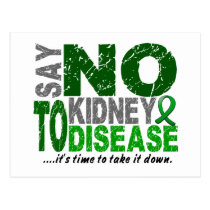 Say NO To Kidney Disease 1 Postcard