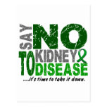 Say NO To Kidney Disease 1 Postcards