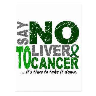 Say NO To Liver Cancer 1 Postcard