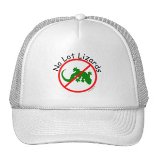 Say No to Lot Lizards on White Truckers Hat