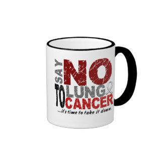Say NO To Lung Cancer 1 Ringer Mug