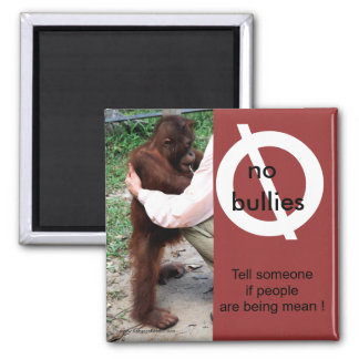 Say No to Meanness 2 Inch Square Magnet