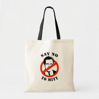 SAY NO TO MITT ROMNEY BAG