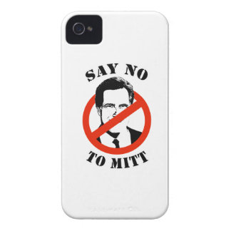 SAY NO TO MITT ROMNEY iPhone 4 Case-Mate CASES