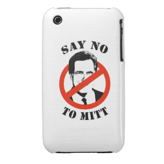 SAY NO TO MITT ROMNEY iPhone 3 CASE