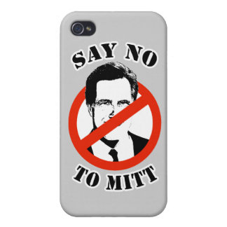 SAY NO TO MITT ROMNEY iPhone 4 COVER