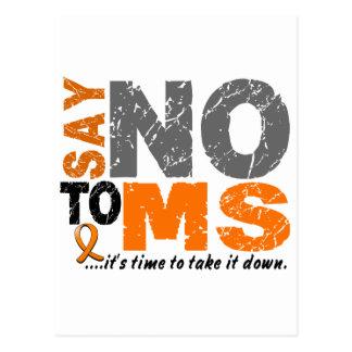 Say NO To MS 1 Postcard