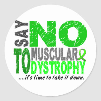 Say NO To Muscular Dystrophy 1 Classic Round Sticker