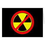 Say NO to Nuclear Power and Radiation Tshirts Card