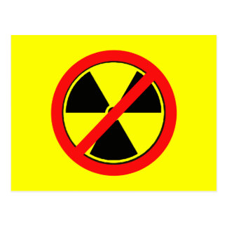 Say NO to Nuclear Power and Radiation Tshirts Postcard
