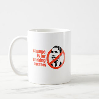 Say No To Obama 2 Change parking Faded.png Classic White Coffee Mug