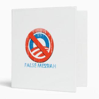 Say No To Obama 3 false messiah Faded png 3 Ring Binder